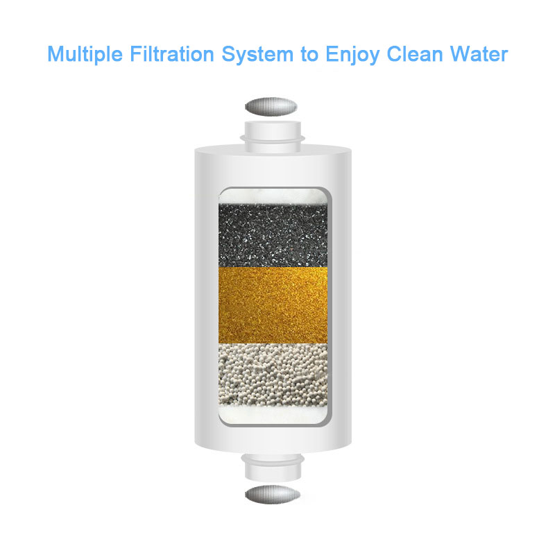 Bathroom Universal Output Shower Filter Activated Carbon Water Filter Household Kitchen Faucets Purifier