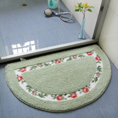 European-style Flower Rugs Garden And Rustic Semicircle Non-slip Absorbent Pad Doormat