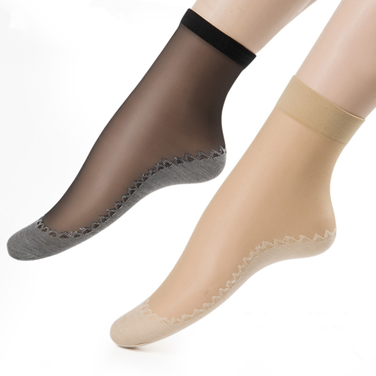 Women Velvet Cotton Bottom Short Sock Non-slip Feet Massage Comfortable Breathable Socks