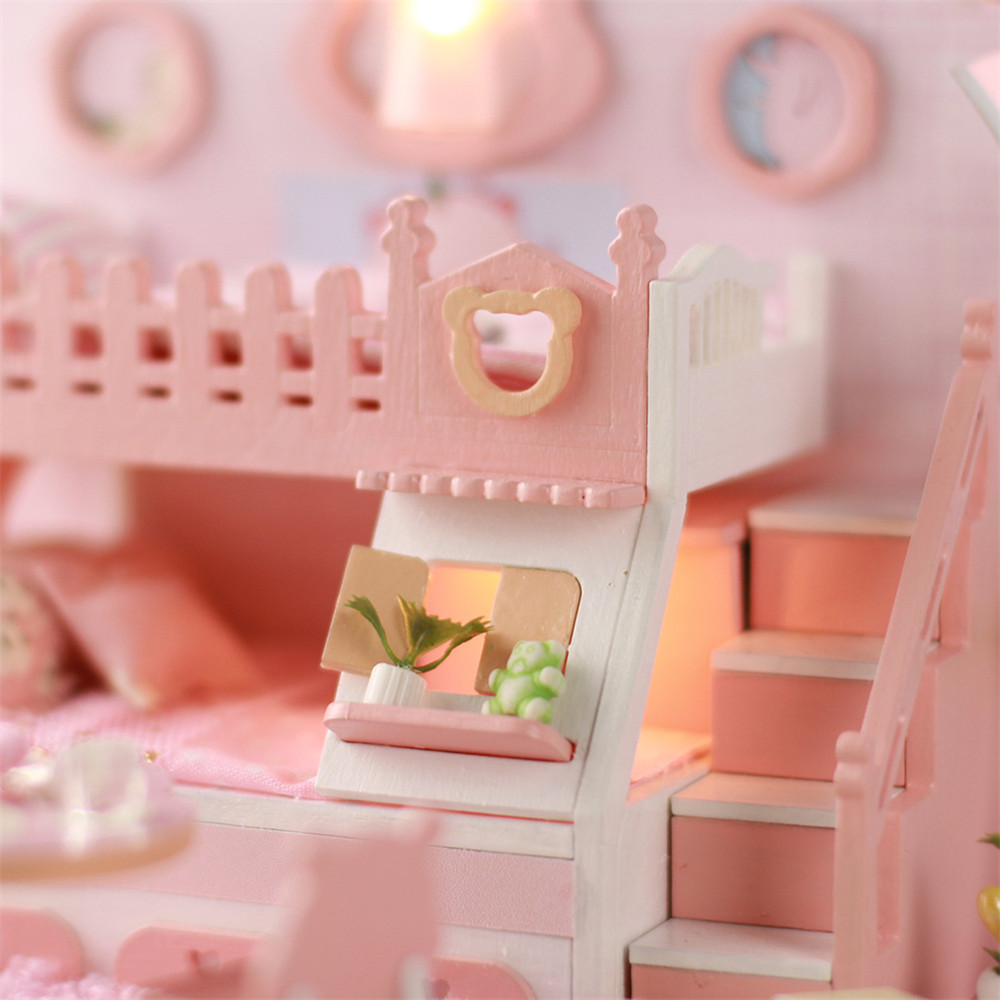 Iie Create DIY Cottage Hand-Assembled Doll House Bear Dream Factory Model P001 - Photo: 3