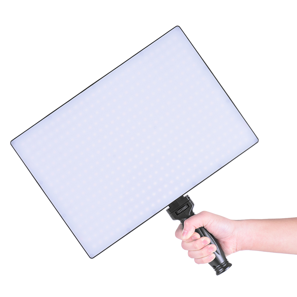 Tolifo Phantom PT-650B Silm LED Panel Video Light Dimmable Bi-color with Remote Control Light Stand