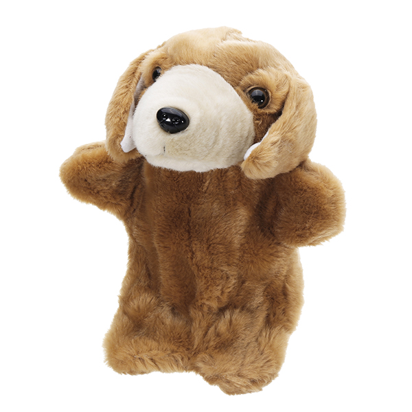 27CM Stuffed Puppy Dog Fairy Tale Hand Puppet Classic Children Figure Toys Plush Animal