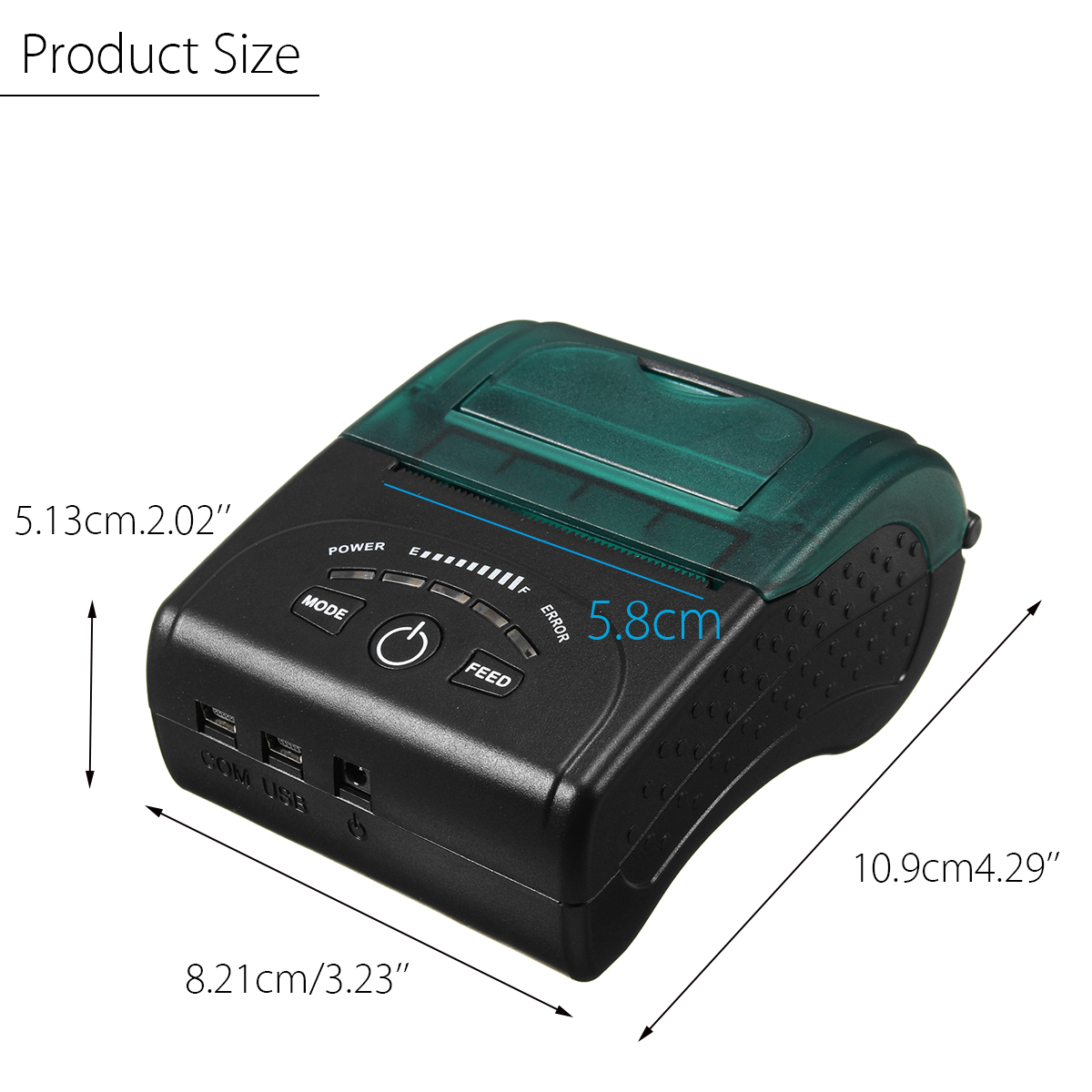 58mm Wireless Portable bluetooth Thermal Printer Receipt for Android/IOS/Windows