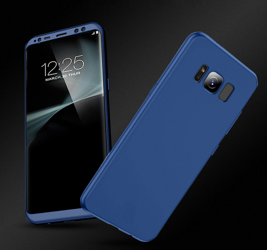 2 in 1 360° Full Body Front PC + Back Soft TPU Protective Case for Samsung Galaxy S8