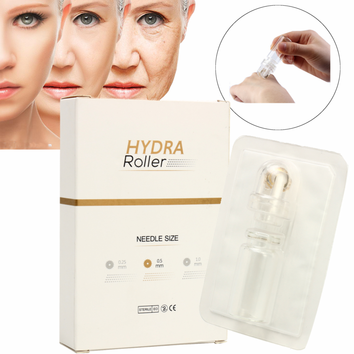0.25-1.0mm 64 Micro Needle Therapy Facial Derma Roller