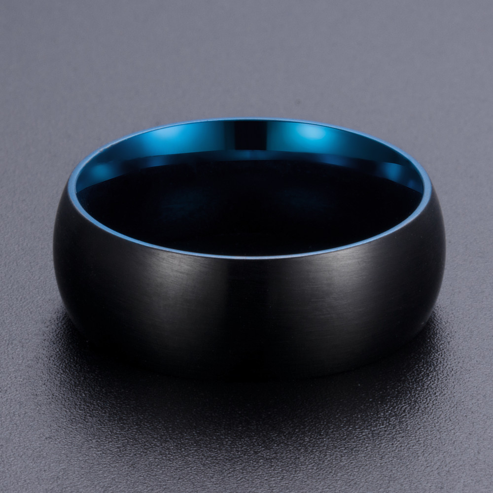 Classic Brushed Stainless Steel Finger Ring for Men