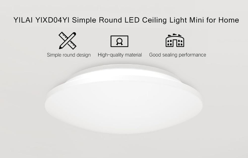 Xiaomi Yeelight YILAI YlXD04Yl 10W Simple Round LED Ceiling Light Mini for Home AC220-240V