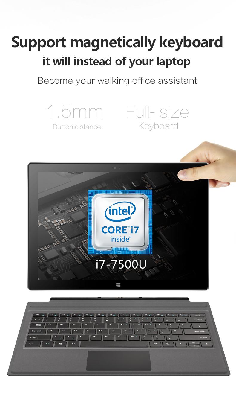 Original Box VOYO VBook i7 Plus Intel Core I7-7500U 16G RAM 512G SSD 12.6 Inch Windows 10 Tablet