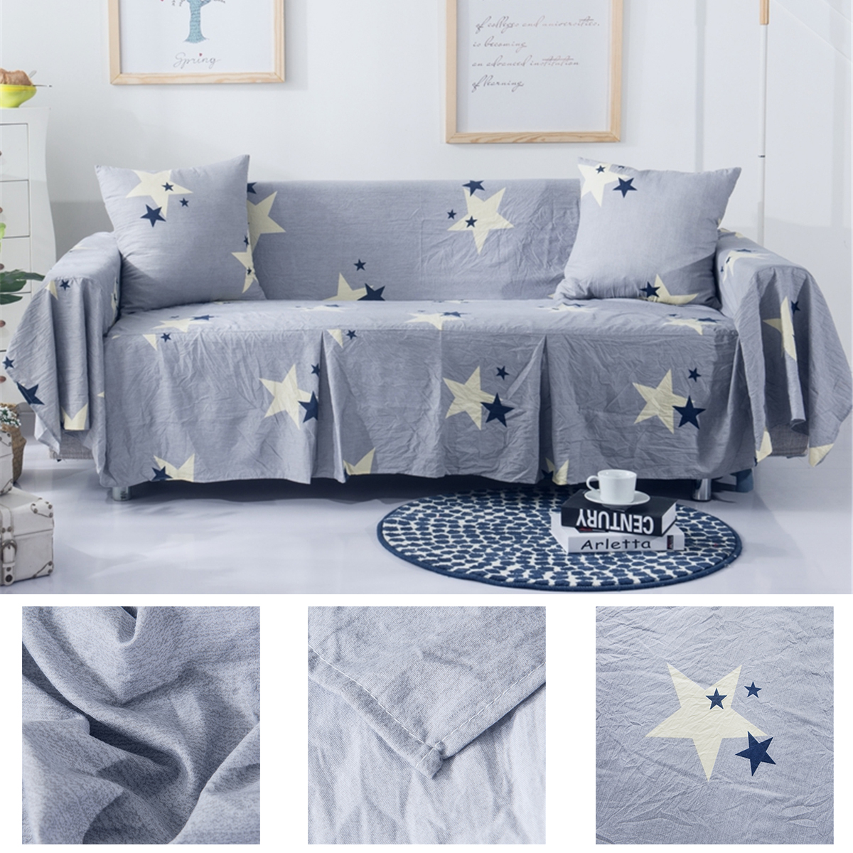 1/2/3 Seaters Chair Covers Sofa Covers Star Furniture Couch Protectors Chair Throw Mats