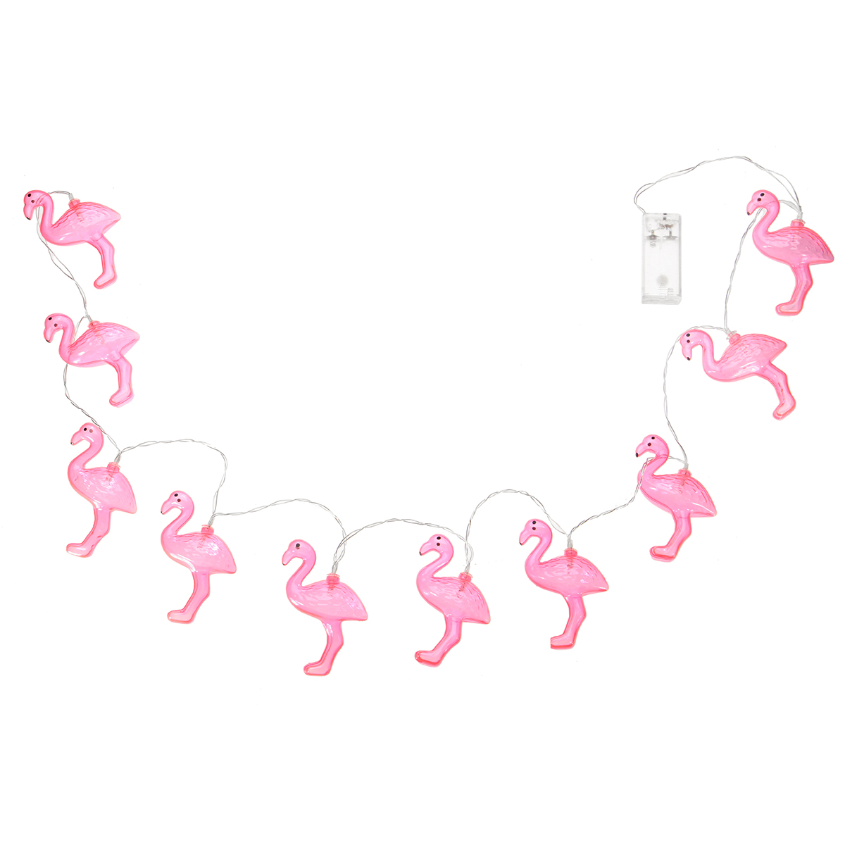 Battery powered 10LEDs Flamingo Novety Warm White Pink Fairy String Light for Christmas Party