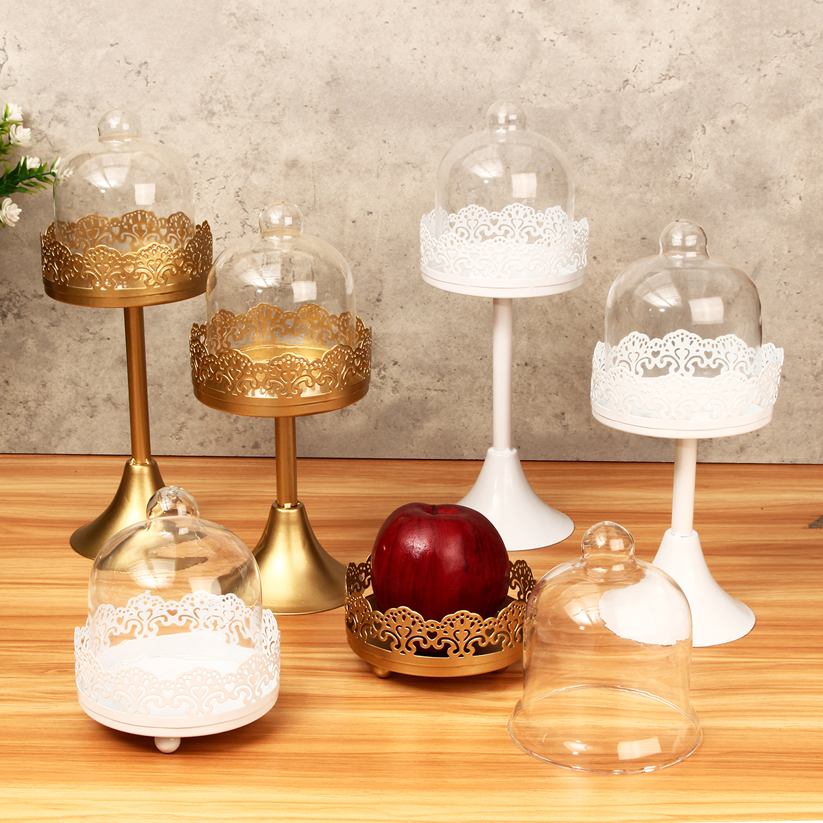 White/Gold Metal Cake Holder Cupcake Stand Dessert Platter Display Wedding Party Decorations
