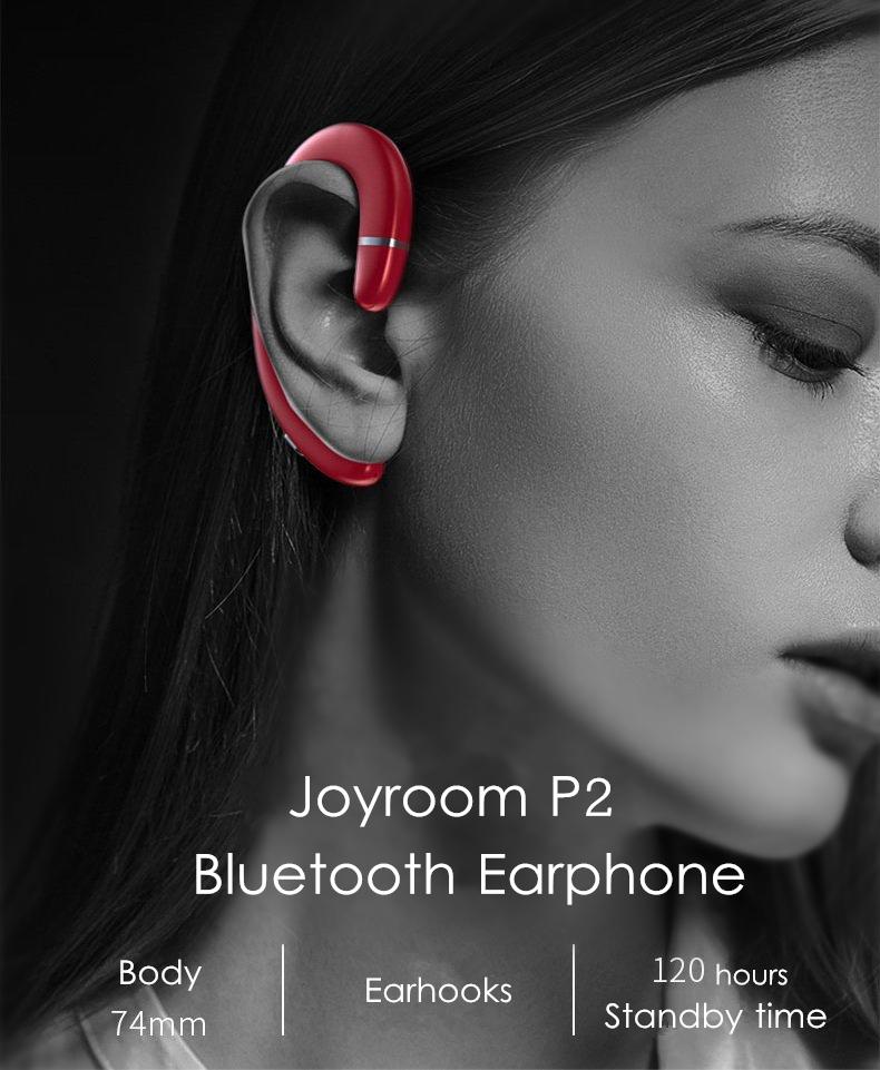 Joyroom P5 Wireless Earhook bluetooth 5.0 Earphone Single Portable Noise Cancelling Waterproof Headphone