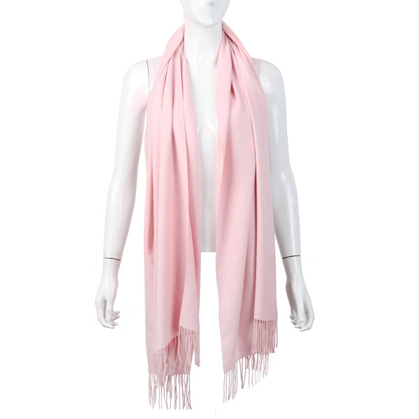 Women Girl Cashmere Imitation Scarves Pure Color Long Tassel Fringed Shawls Pashmina