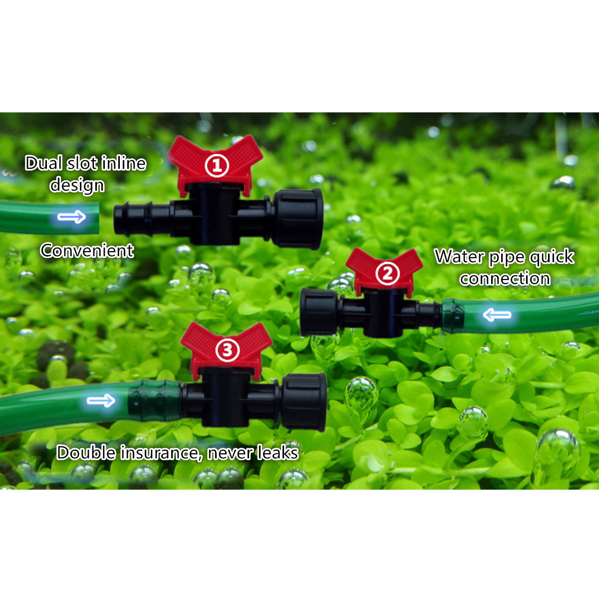 12-22mm Aquarium Filter Canister Water Flow Control Switch Valves Hose Pipe Connectors