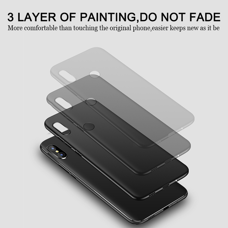 Bakeey Anti-fingerprint Matte Back Case+Tempered Glass Screen Protector for Xiaomi Mi MIX 2S