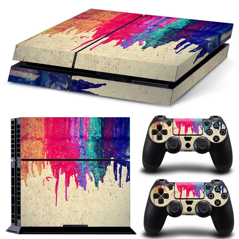 Vinyl Decal Skin Sticker Set For PS4 For Sony For Play