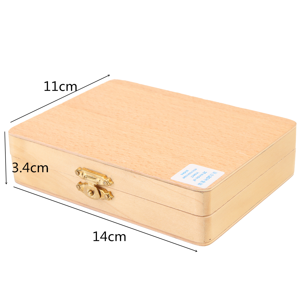 25Pcs Basic Science Biological Microscope Glass Slides Sample With Wooden Box