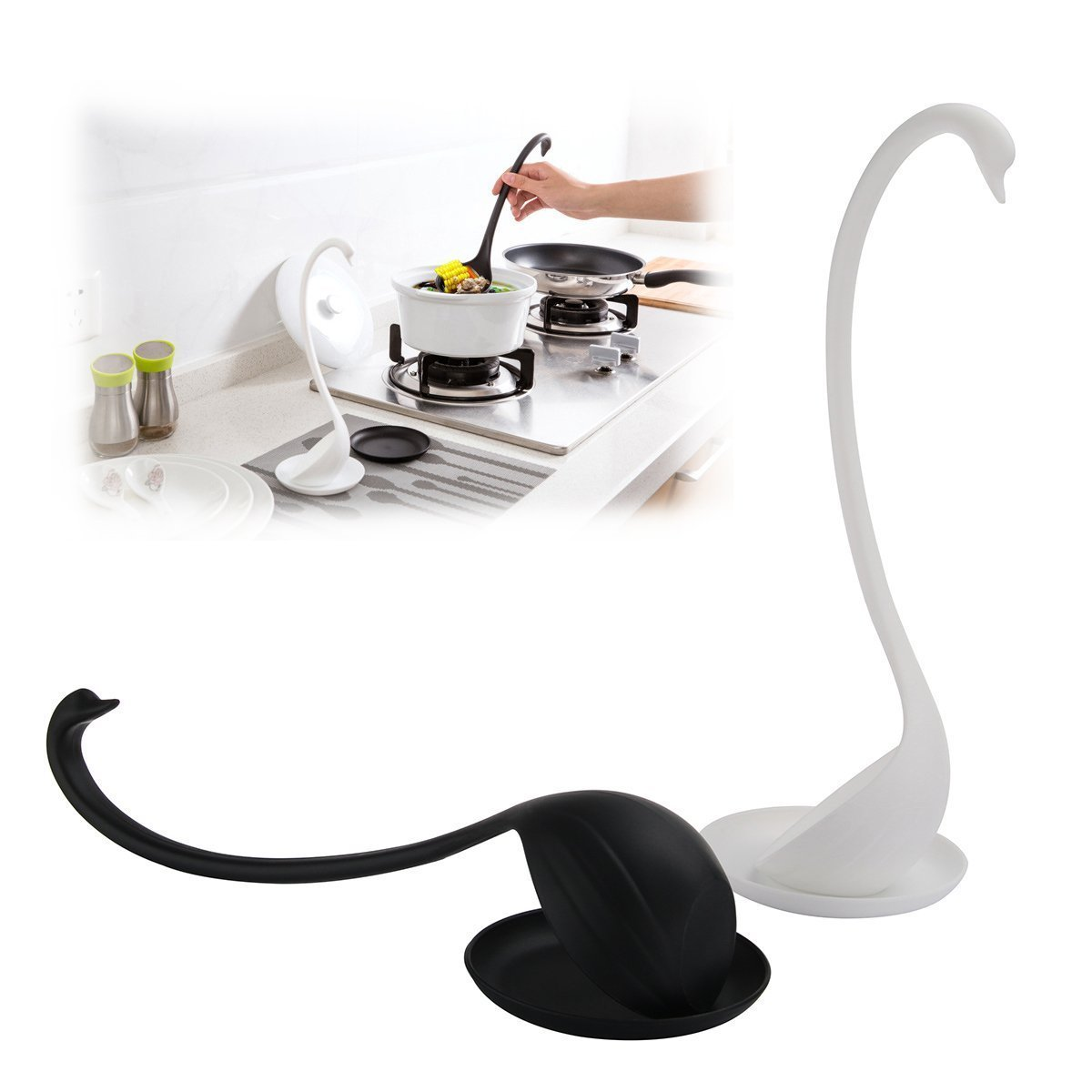 KCASA KC-W003 Elegant Swan Creative Kitchen Soup Ladle Spoon