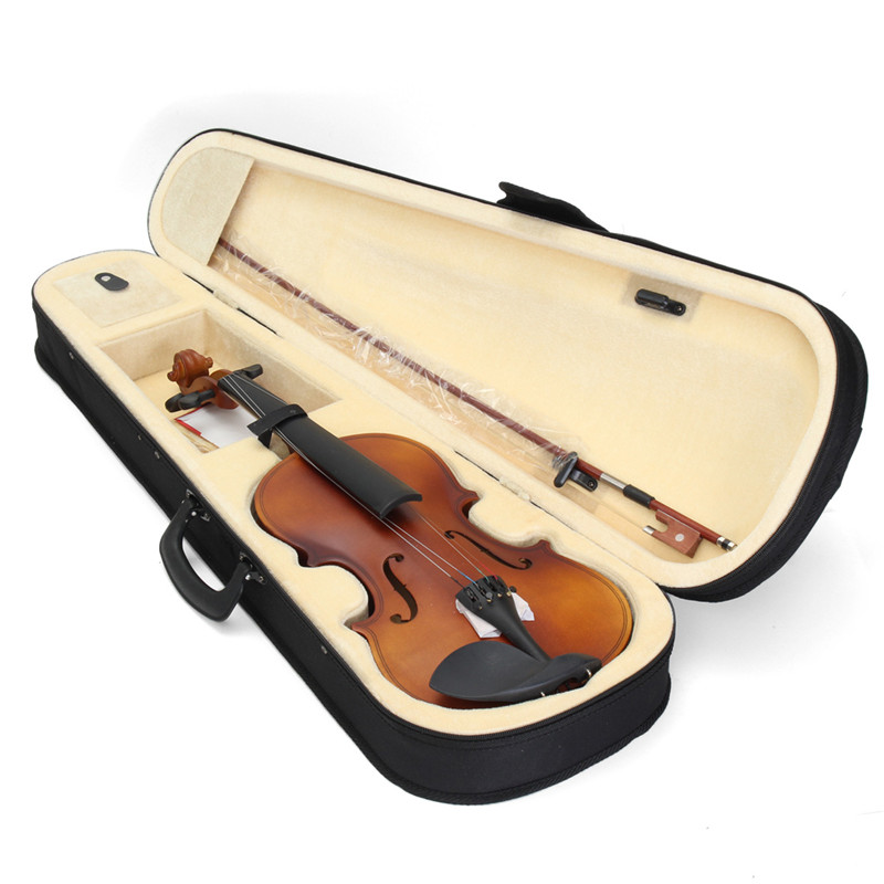 4/4 Full Size Basswood Matte Finish Violin with Case for Beginner