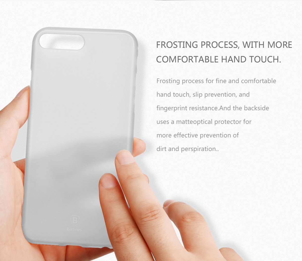 Baseus Slim Series PP Material 0.5mm Ultra Thin Phone Case Multi Protective Cover For iPhone 7 Plus/8 Plus