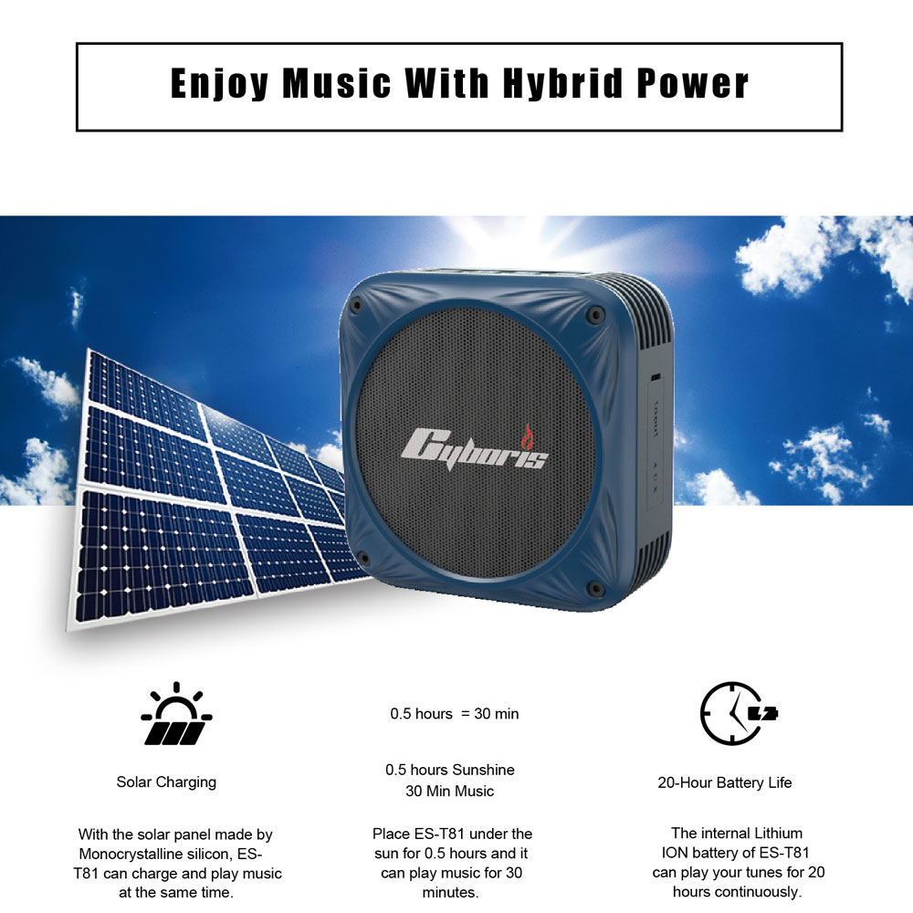 Solar Charging bluetooth Speaker Portable Bike Stand Waterproof Bass Outdoor Sports Wireless Headset