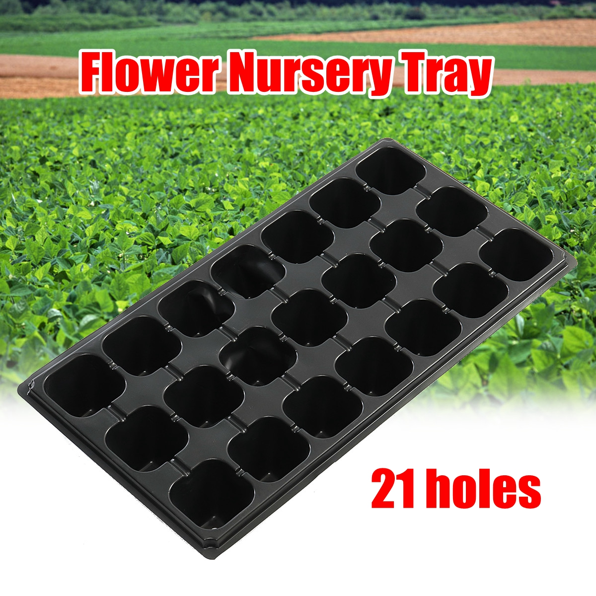 1Pcs Plant Flower Nursery Tray Planting Planter Container Balcony Garden Growing Pot