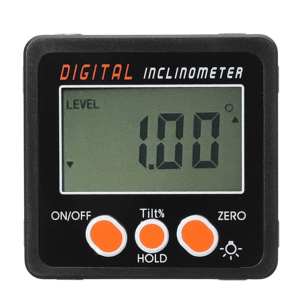 Image of 0.05 Spirit Level Digital Inclinometer Protractor Angle Finder Gauge Meter Bevel