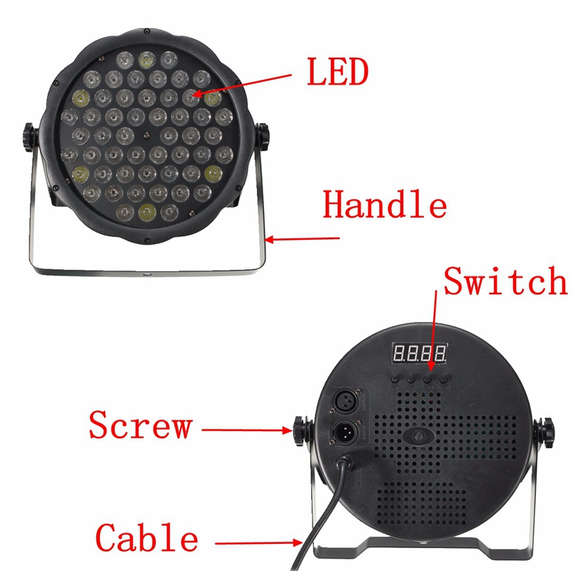 3W 54 LED 160W RGBW Stage Par Lighting Music Club Disco DJ Party Bar Light