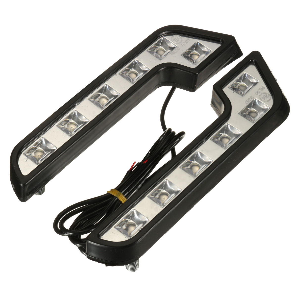 Pair 12V 5W L Shaped White Car VAN Driving Lamp LED DRL Daytime Running Fog Light