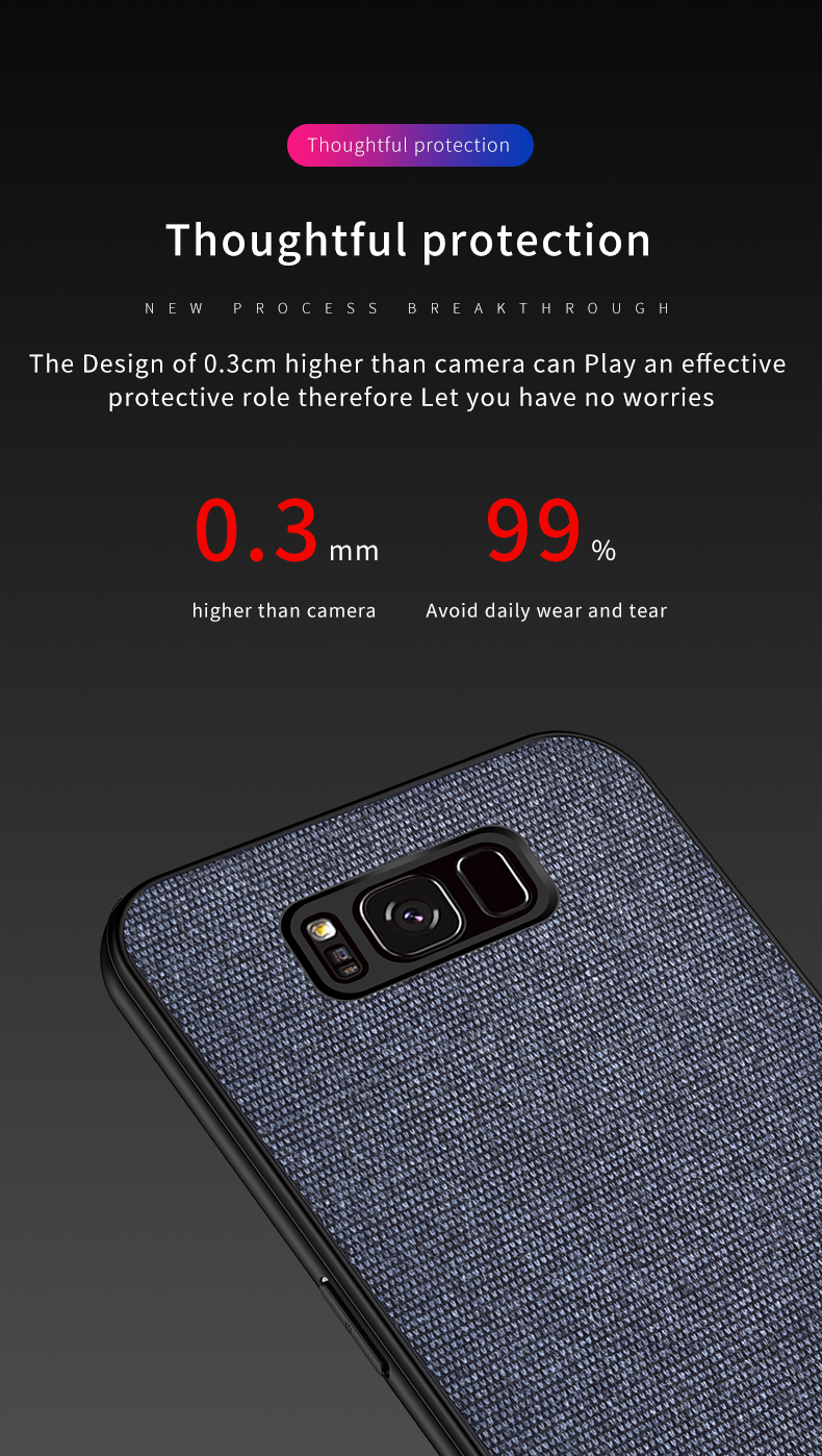 Bakeey Cotton Cloth Protective Case For Samsung Galaxy S8/S8 Plus Anti Fingerprint Back Cover