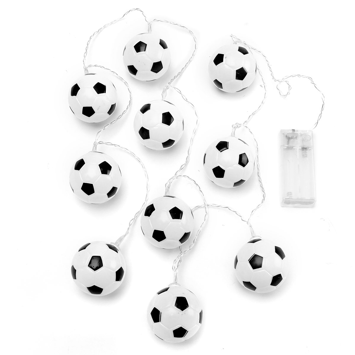 Battery Powered White 10LED Football Fairy Holiday String Light Party Decorative Lamp