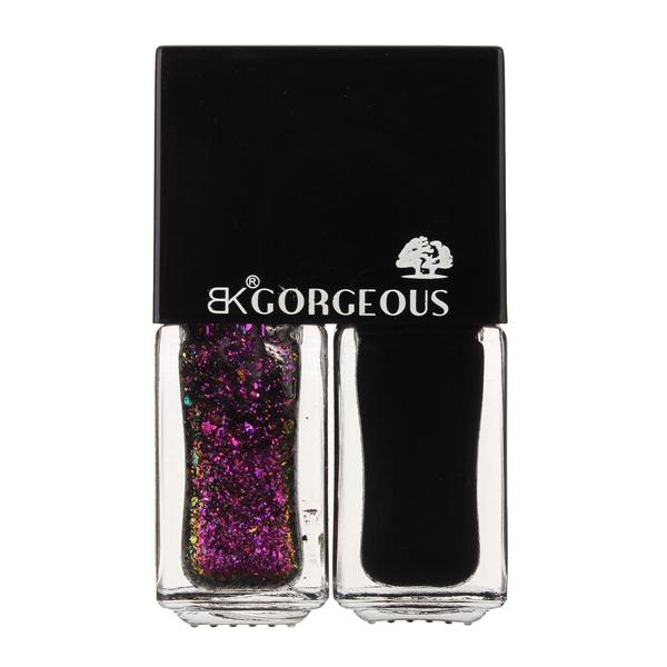 2pcs Base Coat Shining Magic Stars Sparkling Nail Polish Set Glitter Black Salon DIY 8 Colors