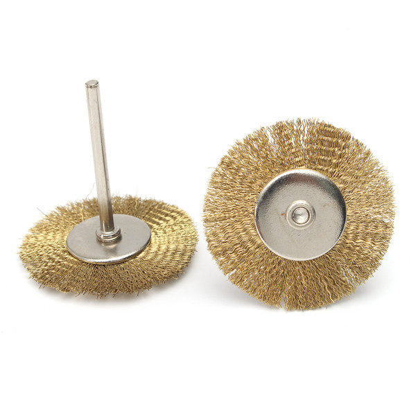 24pcs Mini Wire Steel Brass Brushes Set Polishing Brush Cup Wheels for Rotary Tool