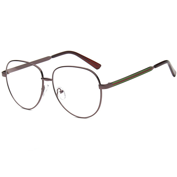 Unisex Men Women Metal Frame Eyeglasses Clear lens Vintage Retro Geek Fashion Glasses