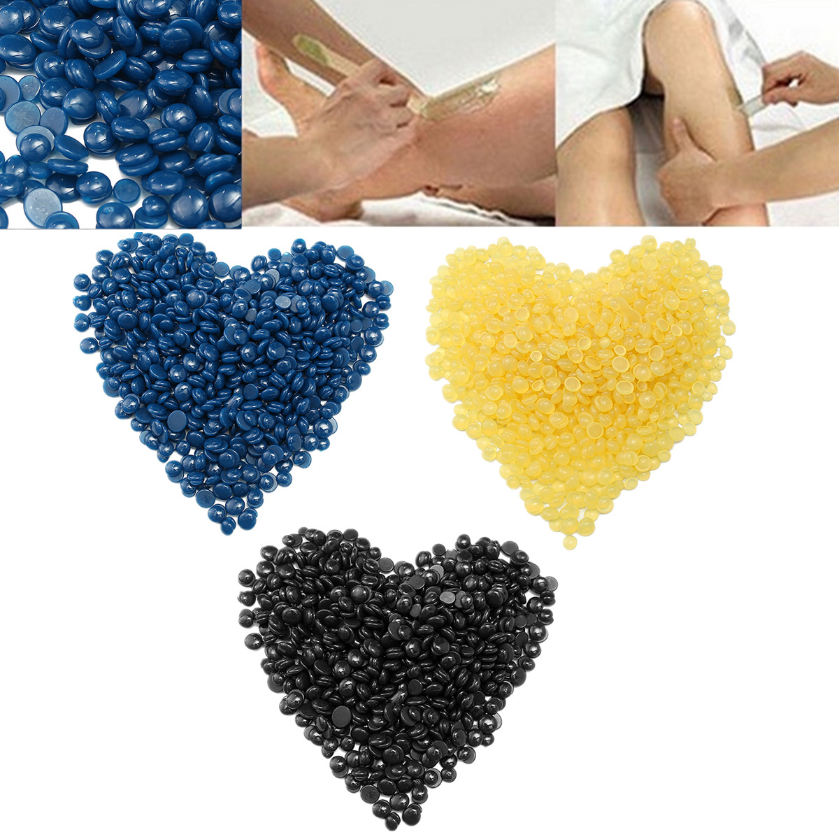 100g Depilatory Hot Film Heat Hard Wax Waxing Beans Pellet Body Hair Removal Four Flavors