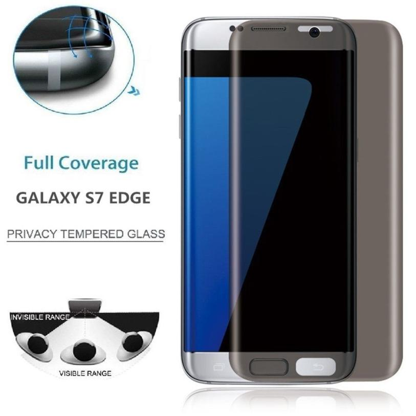 3D Curved Edge Anti Spy Tempered Glass Film For Samsung S7 Edge