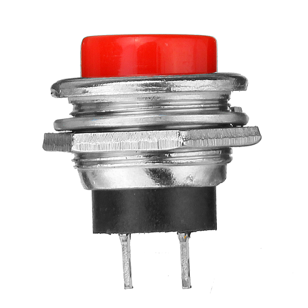 5Pcs 3A 125V Momentary Push Button Switch OFF-ON Horn Red Plastic
