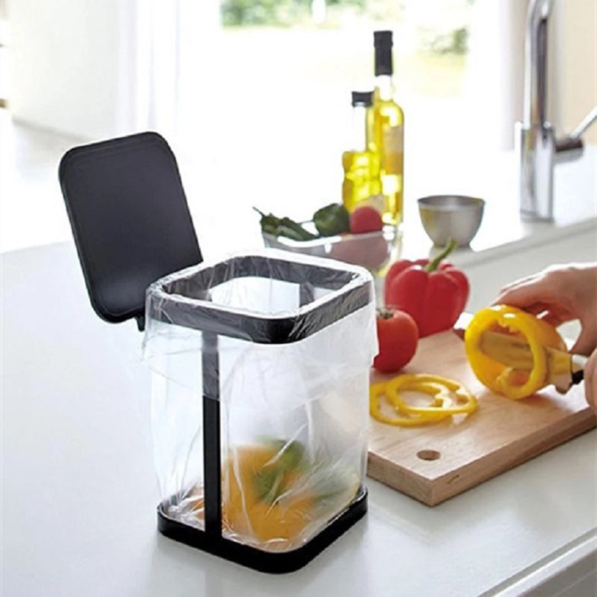 Mini Small Waste Bins For Desktop Garbage Basket Trash Can Table Home Office