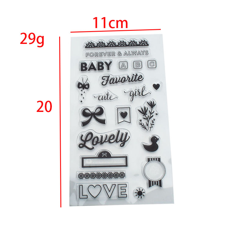 Lovely baby Forever Always Words Pattern Transparent Clear Silicone Rubber Stamp for DIY Scrapbooking Paper Art Photo Album