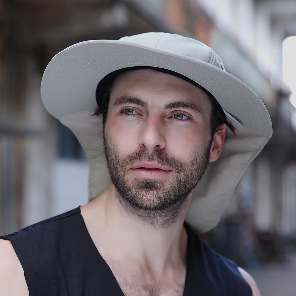 Wide Brim Bucket Hat UV Protection Camping Fishing Cap