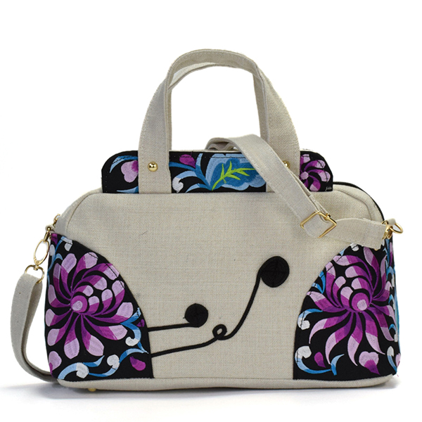 National Style Embroidered Women Cotton Handbag