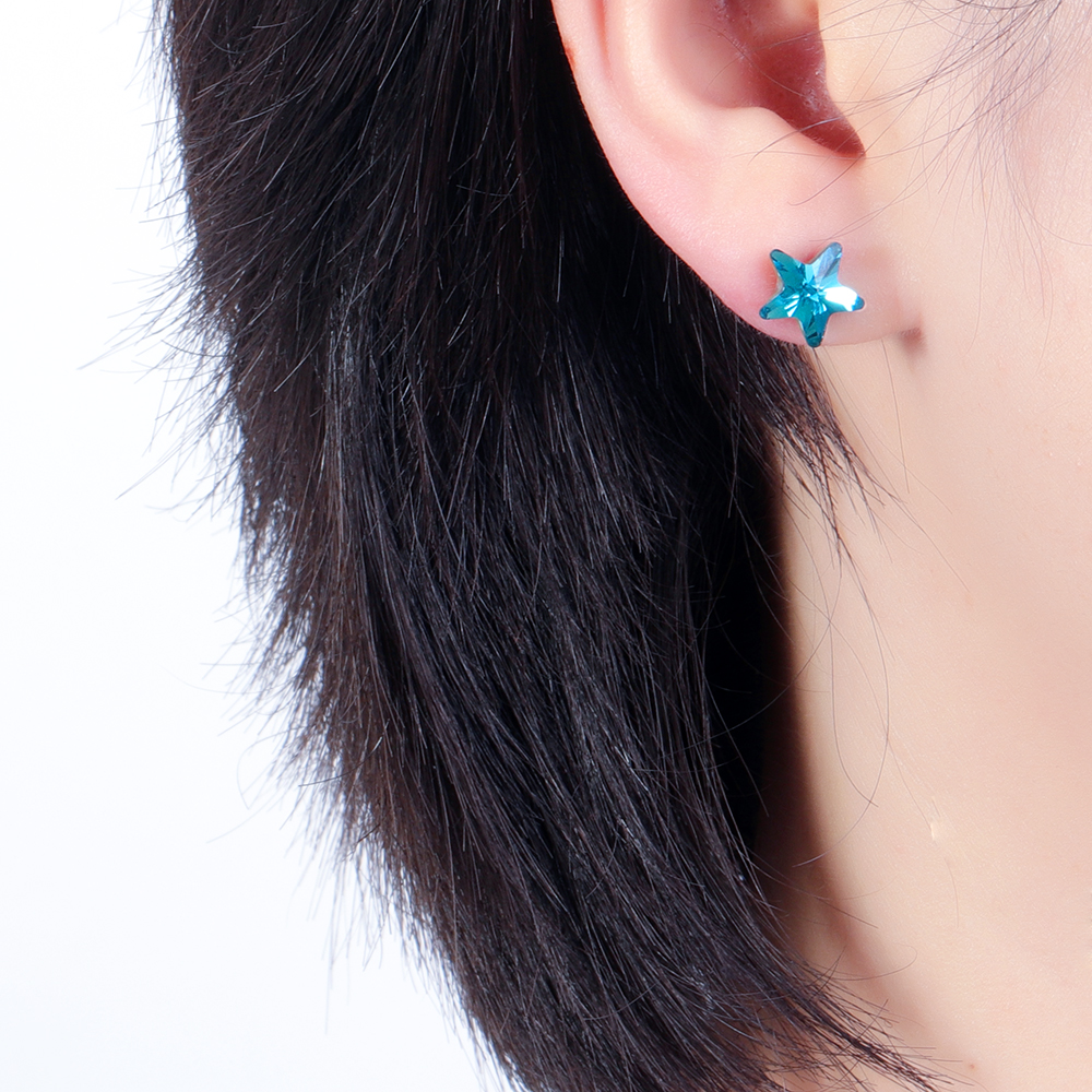 Unique Asymmetric Ear Stud Earring Luxury Micro Paved Zircon