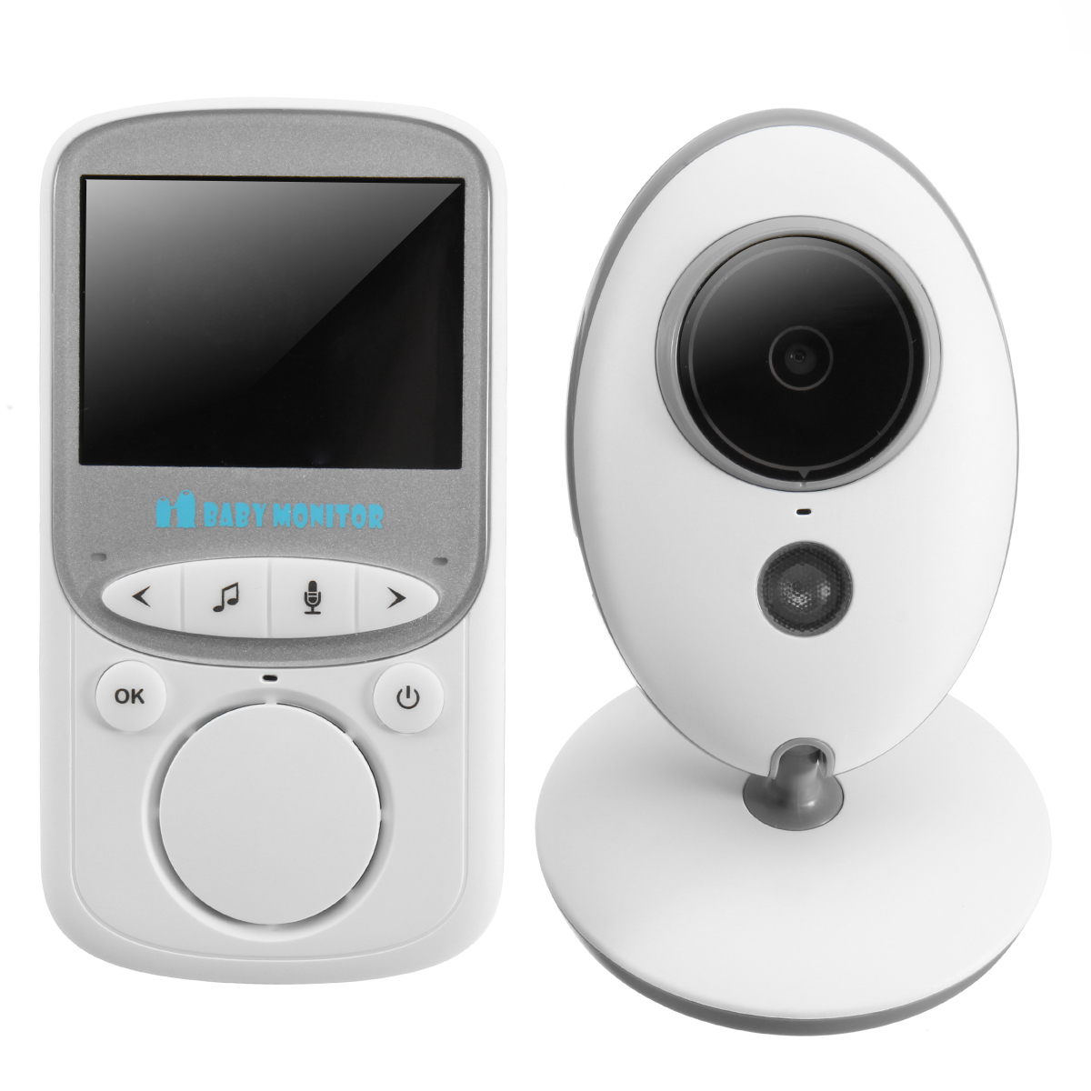 2.4GHz Wireless Digital LCD Color Baby Monitor IP Camera Audio Video Night Vision