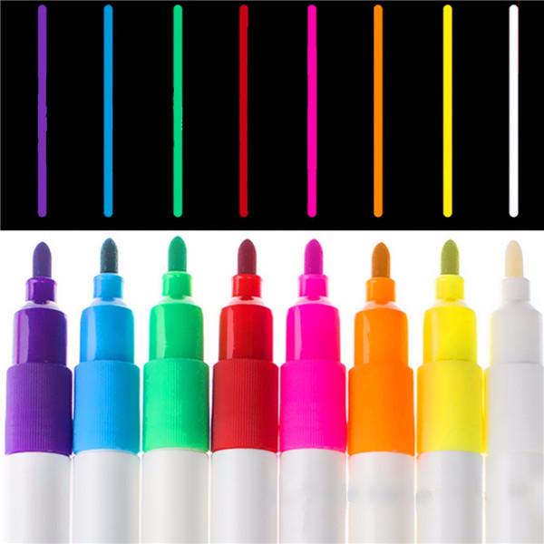 8pcs Liquid Chalk Marker Set LED Writing Board Fluorescent Pen 3mm Bullet Tip Pen