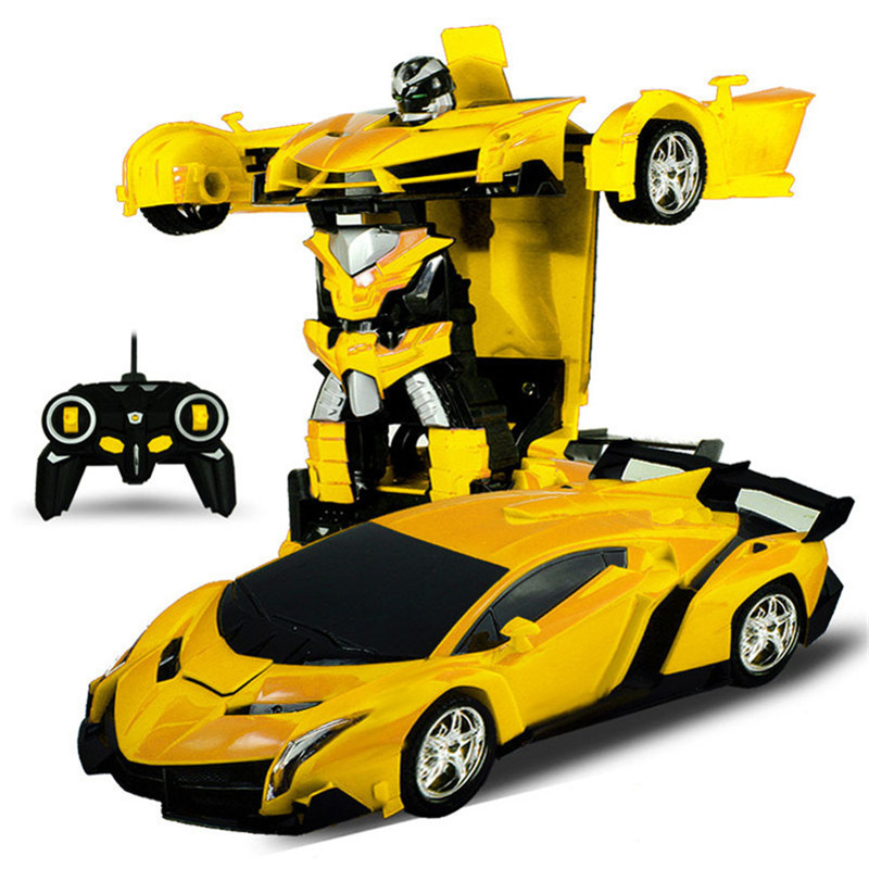 2 In 1 Rc Car Sports Wireless Transformation Robot Models Deformation Fighting Toys - Photo: 3
