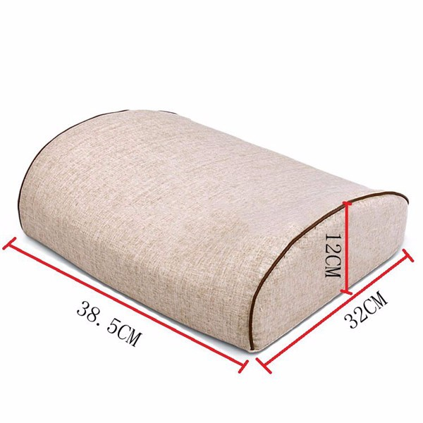 Car Head Rest Linen Saddle Type Car Memory Neck Pillow Cushion 38.5×32×12 cm