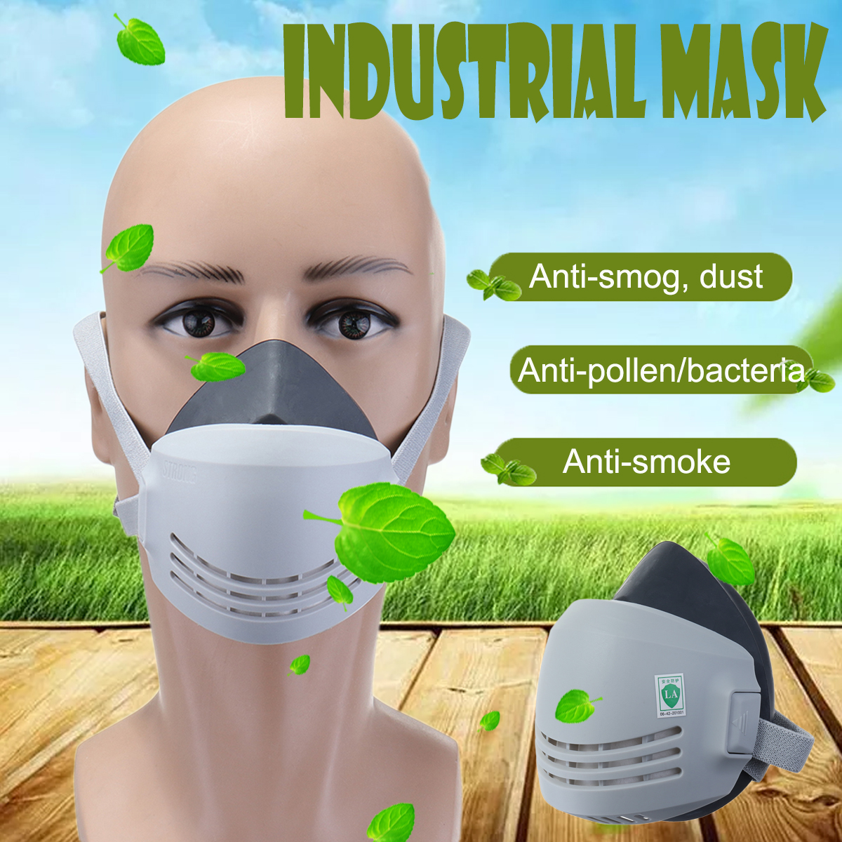 Industrial Chemical Gas Anti-Dust Spray Paint Welding Respirator Face Mask with 10 Filters