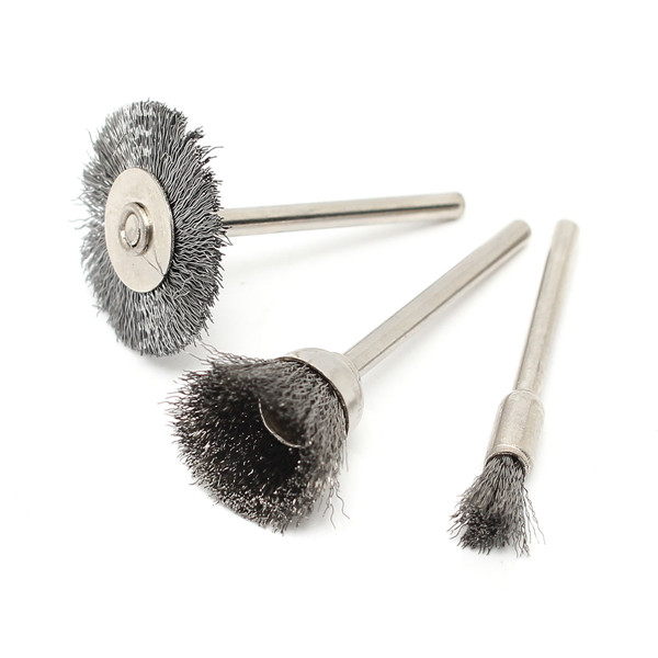 45pcs Steel Wire Wheel Brushes Set Dremel Accessories for Rotary Tools Grinding Brush