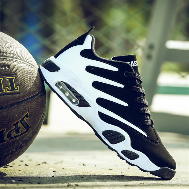 Men's Outdoor Basketball Sports Athletic Shoes Air Cushion Shock Absorber Shoes