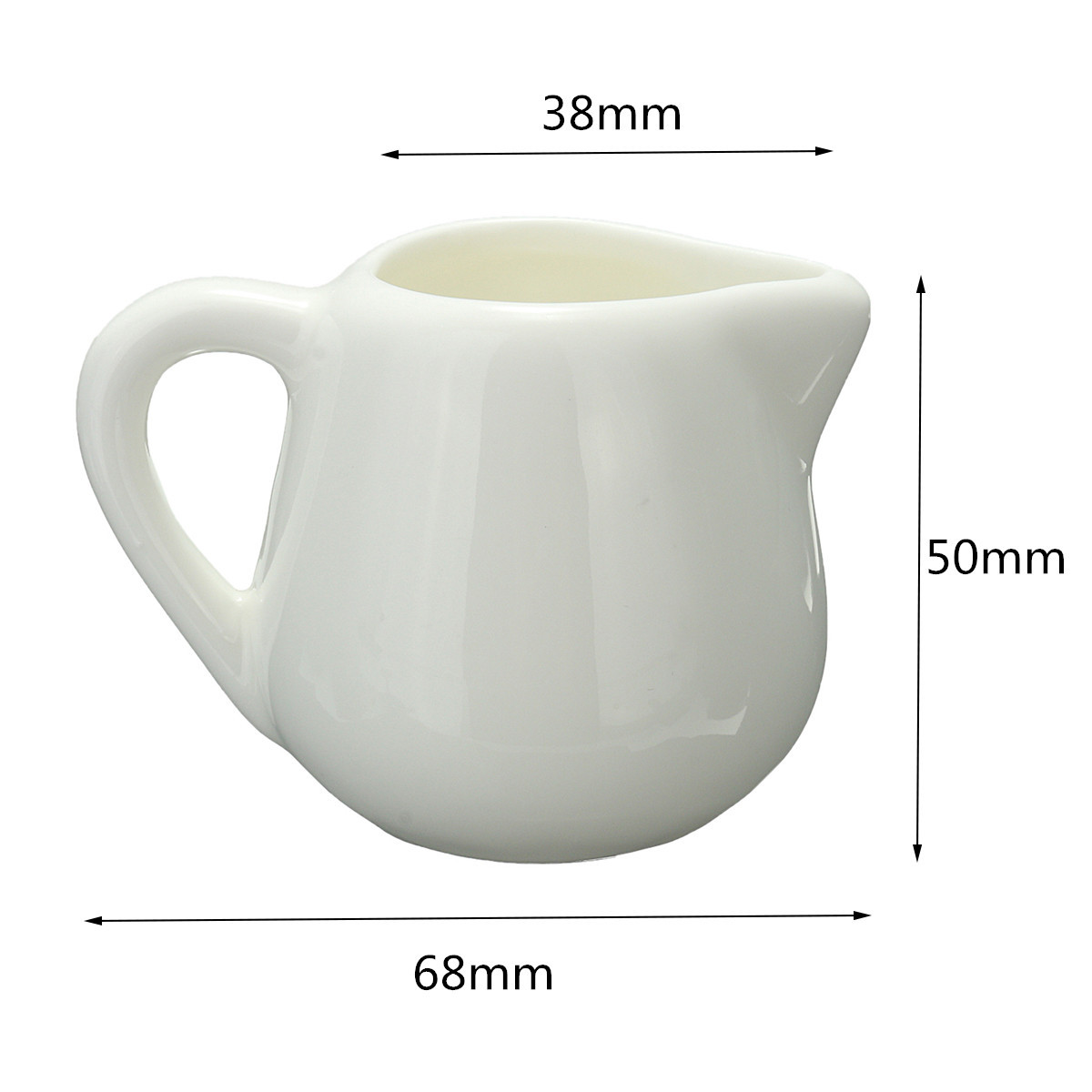 50ml/150ml White Ceramic Milk Jug Kitchen Pouring Coffee Cream Sauce Cup with Handle